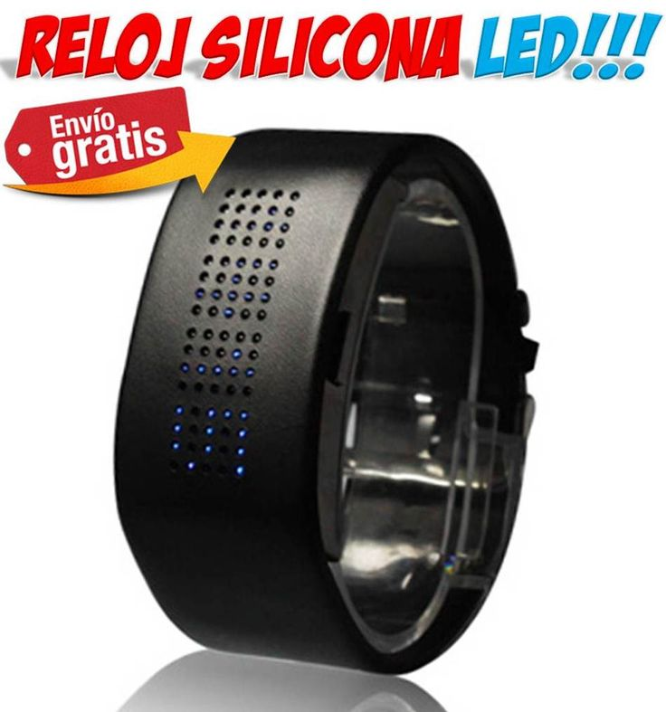 #relojes #ofertas #descuentos #compras #venta #yougamebay #regalos Reloj LED con correa de silicona. Comprar relojes originales para regalar a mujeres y hombres!!! http://www.yougamebay.com/es/product/elegante-reloj-de-pulsera-brazalete--1