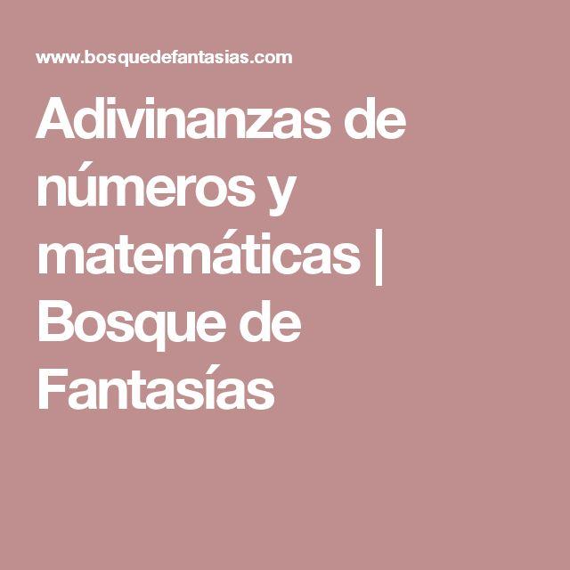 Adivinanzas de números y matemáticas | Bosque de Fantasías