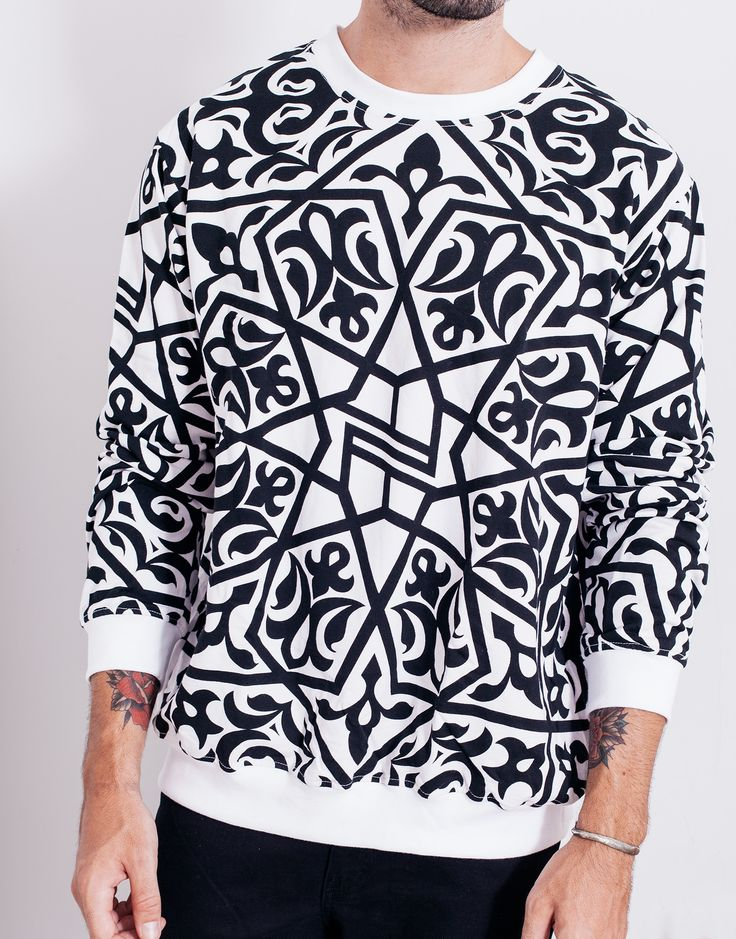 Nemis Arabic Mini Logo Sweater White Main