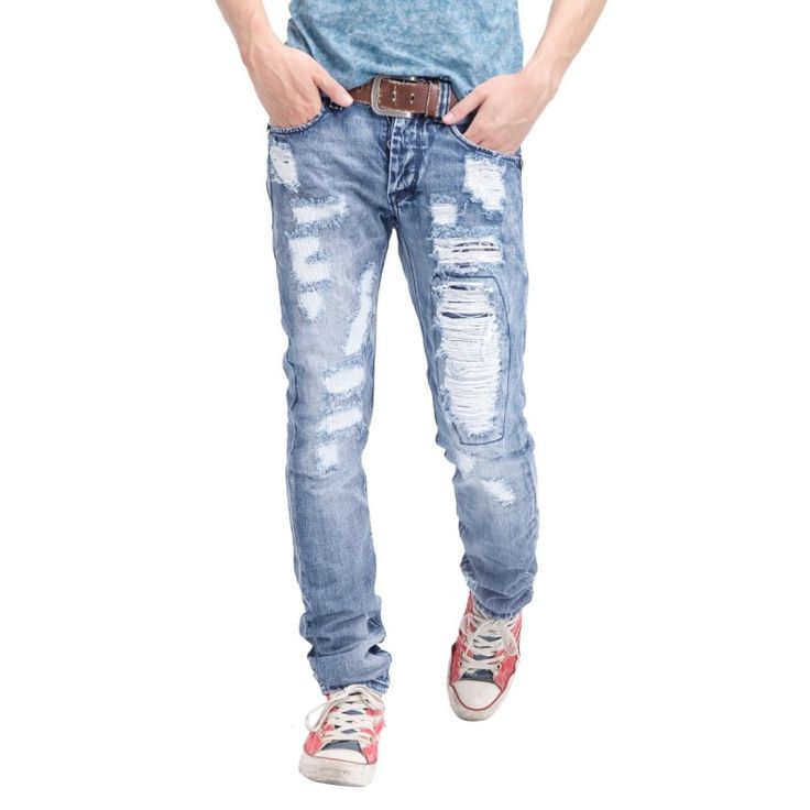 Aweful Mens Ripped Jeans