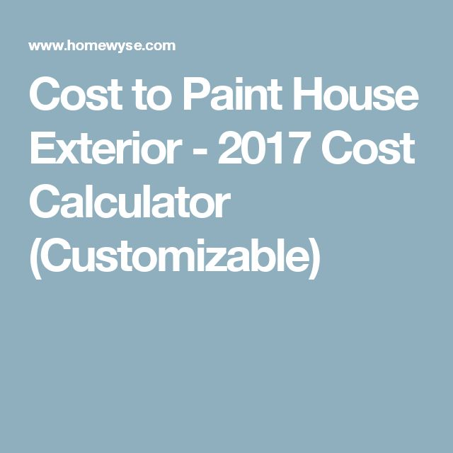 Cost Paint House Exterior Cost To Paint House Exterior  Cost - Cost to paint home exterior