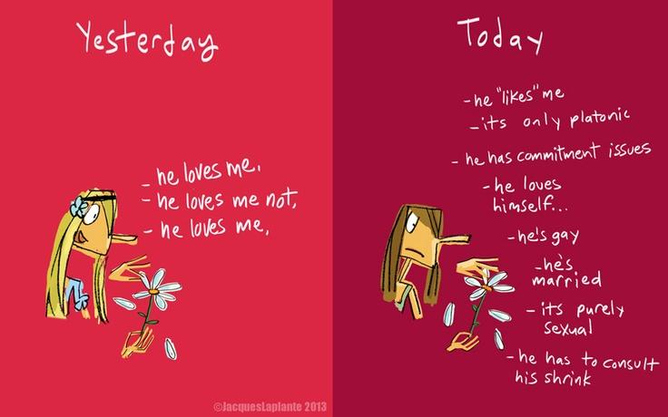 Love. Yesterday vs today