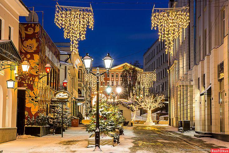 Москва на Рождество winter Moscow