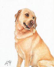 original oil art labrador retriever portrait painting dog signed yellow lab