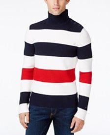 Tommy Hilfiger Men's Kahawai Striped Turtleneck