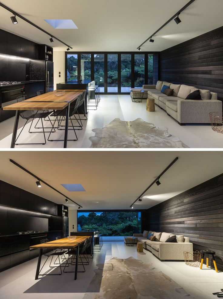 Dark wood and simplicity makes this 818 Square foot modern home better than living in an apartment. The architect specifically designed the home to be cost-effective and suitable for different locations. Architecture by Evelyn McNamara, NZ.