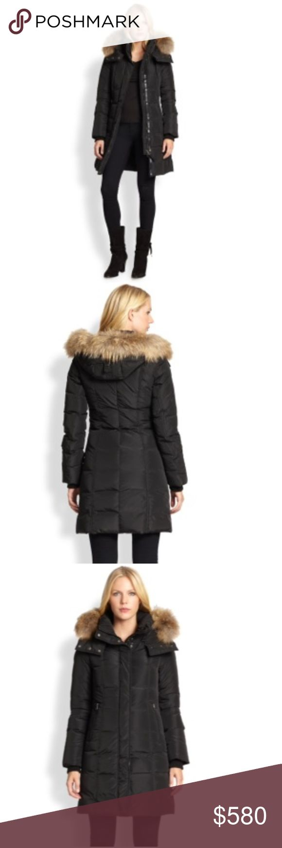 Mackage Fur Leather Trim Down Coat S with Tag Mackage Fur Leather Trim Down Coat with Original Tag Size Small!!! It's super warm and stylish down coat for winter!!Black color, Midi length, Removal raccoon fur hat. great condition,wear 3-5 times gently. I bought this coat at Saks fifth avenue $780. It comes with original tag and coat cover from Saks. Mackage Jackets & Coats Puffers