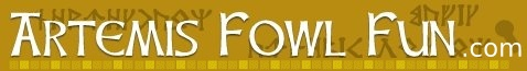 Website with fun online activities to go with the book, Artemis Fowl by Eoin Colfer