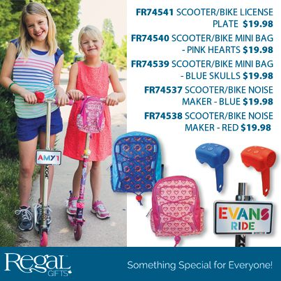 """SCOOTER/ BIKE NOISE MAKER from Regal Gifts Features 4 super cool sound effects: police siren, turbo boost, horn and laser zap. Suitable for scooters and bikes. Soft silicone covering. Batteries included. 2-3/4""""L x 2""""W  https://youtu.be/Eh621zwyOU4  http://www.Regal.ca"""