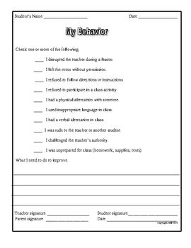 best middle school behavior charts and checklists images on behavior and classroom management forms for teachers