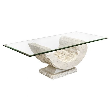 Mactan Stone Glass Contemporary Coffee Table