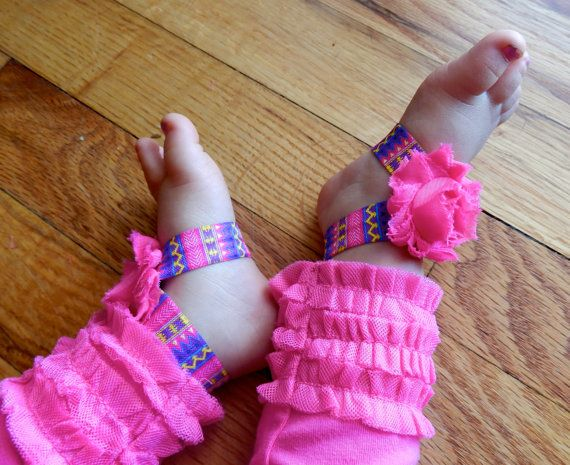 Tribal footless sandals, aztec footless sandals, barefoot sandals, aztec, tribal, toe bows, pink piggy petals, tribal, aztec baby sandals