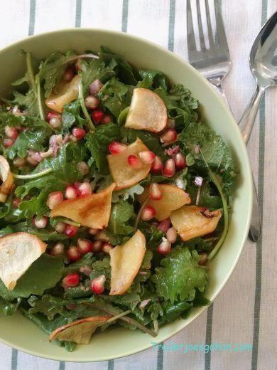 Trader Joe's Organic Baby Kale ベビーケールとリンゴとザクロのサラダ | Recipe ...