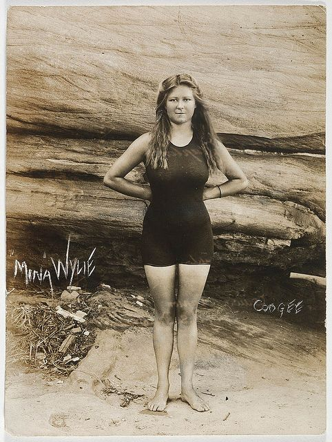 Mina Wylie, Coogee, 1913. Fanny Durack and Mina Wylie were Australia's first women Olympians, winning gold and silver in the 100 metres freestyle, Stockholm, 1912. From the collection of the State Library of New South Wales www.sl.nsw.gov.au, via Flickr