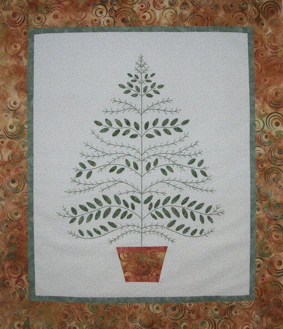 Greenery Wall Hanging Quilt Pattern by QuiltLilyDesigns on Etsy, $8.50
