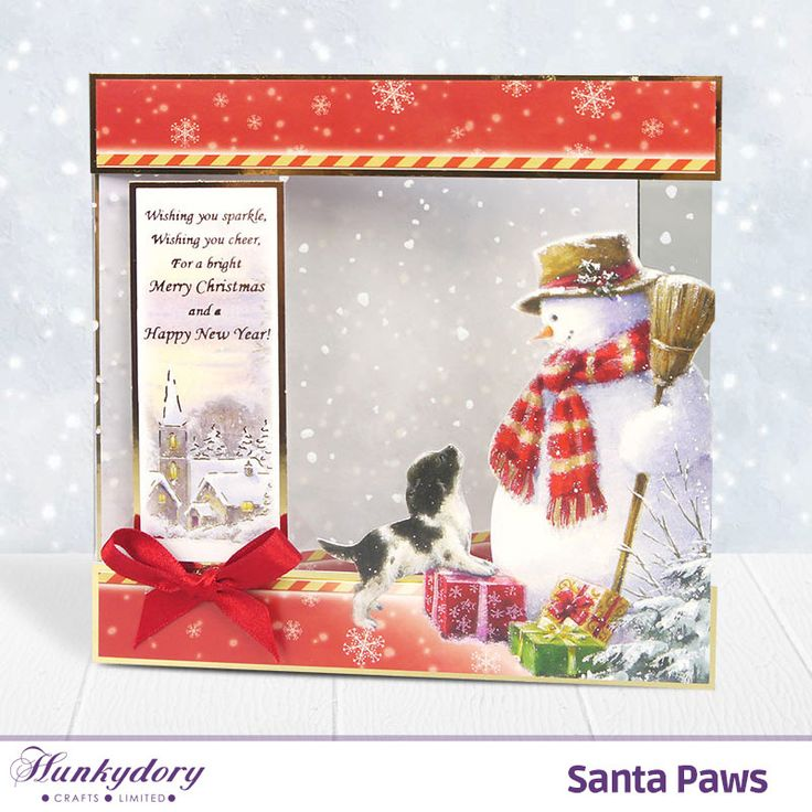 1000 images about hunkydory santa paws cards on pinterest for Santa cards pinterest
