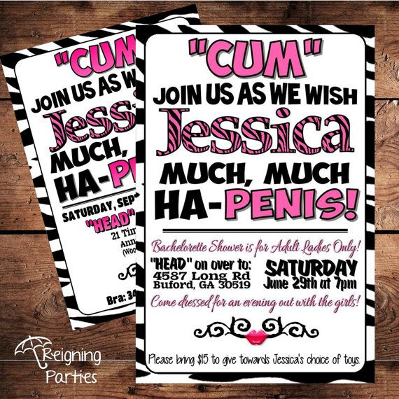 Naughty adult email party invitation