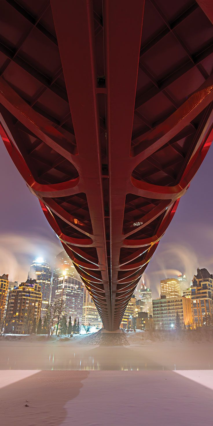 Standing beneath Peace Bridge in Calgary - @laurenepbath on IG
