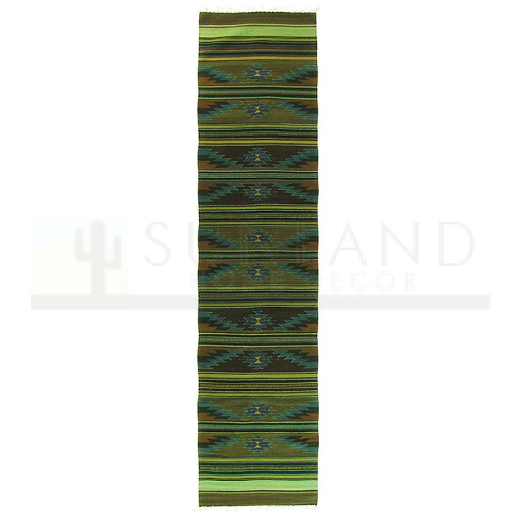 Sunland Home Decor: 161014-3 - One-of-a-kind Zapotec Wool Runner - 124in x 31in