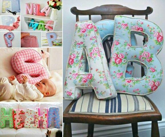 Letter pillows
