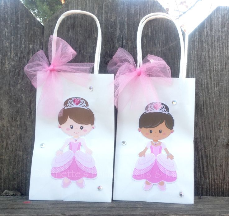 Princess Party Favor Bags Treat Bags for Birthday Party Baby Shower Girls Pink Party by AnnettesPartyFavors on Etsy