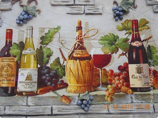 Картина панно рисунок День рождения Декупаж Лепка картина-пано Гипс Салфетки Тесто соленое фото 2