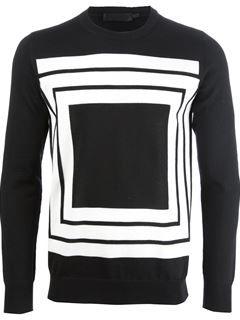 94398b2cf64dc3 Alexander Mcqueen Square Knit Sweater - Smets - Farfetch.com | clothes |  Designer clothes for men, Sweater design, Men sweater