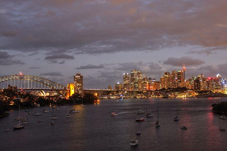 Waverton lookout Sydney night view