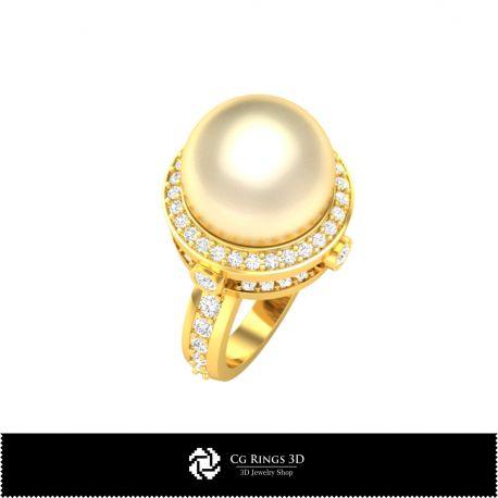 3D Pearl Rings
