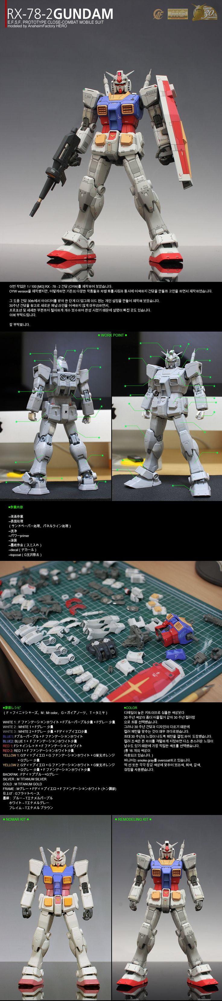 """■[完成]RX-78-2 GUNDAM """"Ver_O.Y.W./G-30"""" ■   Daum 루리웹"""