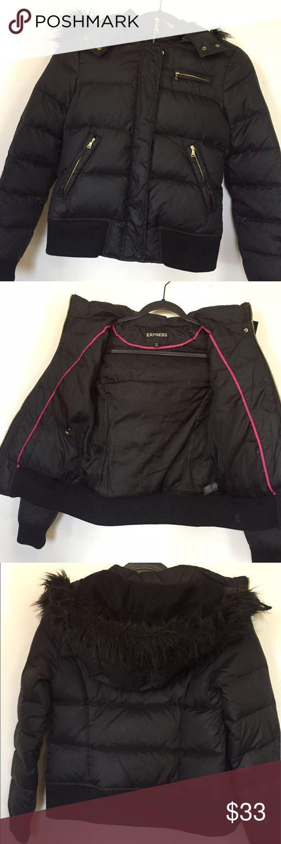Very warm coat Used Black, very warm winter coat Express Jackets & Coats