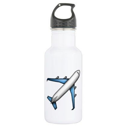 #Airplane - Emoji Water Bottle - #travel #accessories