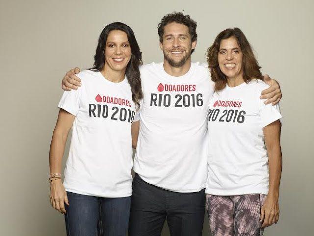 COMO TER UM MUNDO MELHOR: RJ: Campeões Olímpicos convocam população a doar sangue
