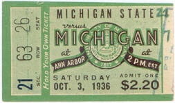 1936 at Ann Arbor: Michigan State 21, Michigan 7