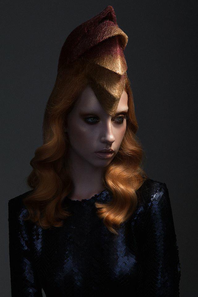 German Hairdressing Award 2015, Gewinner Kategorie Avantgarde, Haare - André Lemke, Foto - Sascha Hauboid HEKS, Make up - Franziska Dominick