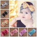 2015 bebê cabeça de algodão listrado bonito lantejoula hairbow fita Bowknot cabelo headwrap crianças acessórios de cabelo