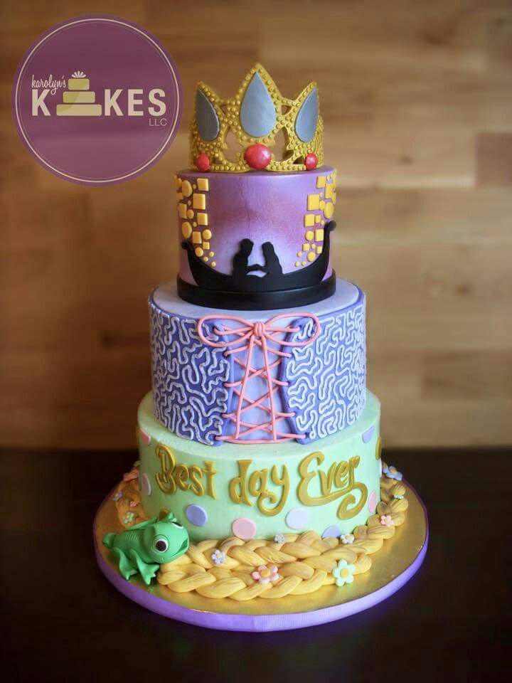 Love this Tangled Rapunzel cake by karolyn's kakes
