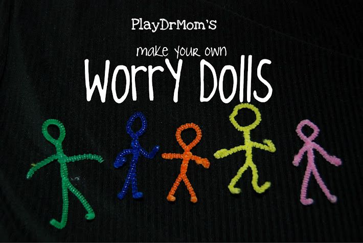 One pipe cleaner = one worry doll!