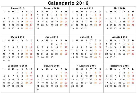 calendario 2016 colombia con festivos - Buscar con Google | Proyectos ...