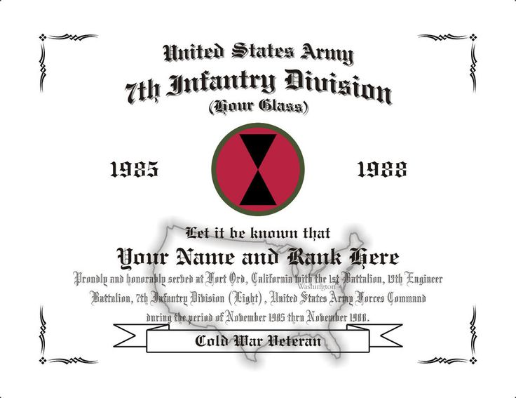 9 best US Army Affiliation Display Certificates images on Pinterest