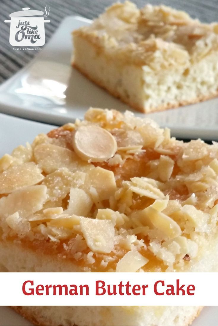 German butter cake with an easy yeast dough using your bread machine to make this super easy and quick. Wunderbar! Recipe: http://www.quick-german-recipes.com/german-butter-cake.html ~ Oma Gerhild ♥