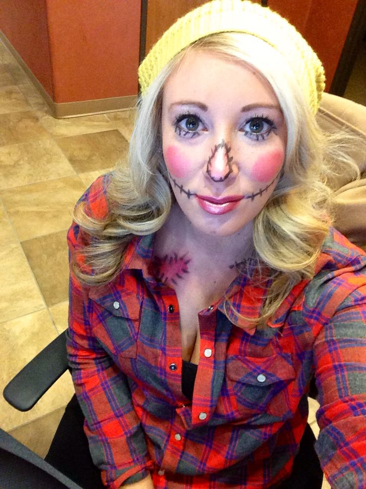 happy scarecrow makeup