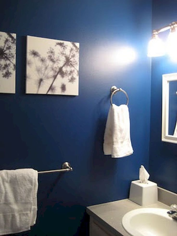 Best Blue Bathroom Mediterranean Images On Pinterest Room