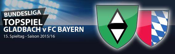 15. #Bundesliga Spieltag: Eine seltene wie spannende Konstellation ergibt sich an diesem 15. Spieltag. Mit gleich drei Knallerbegegnungen treffen die derzeit sechs bestplazierten Mannschaften der Bundesliga aufeinander. Ferner geht es im Hessenderby zwischen Eintracht Frankfurt und Darmstadt 98 um Patz 12 der Tabelle. Im Kellerduell VfB Stuttgart gegen Werder Bremen geht es um den letzten Nichtabstiegsplatz. Die Top Partie bestreiten Gladbach und Bayern.