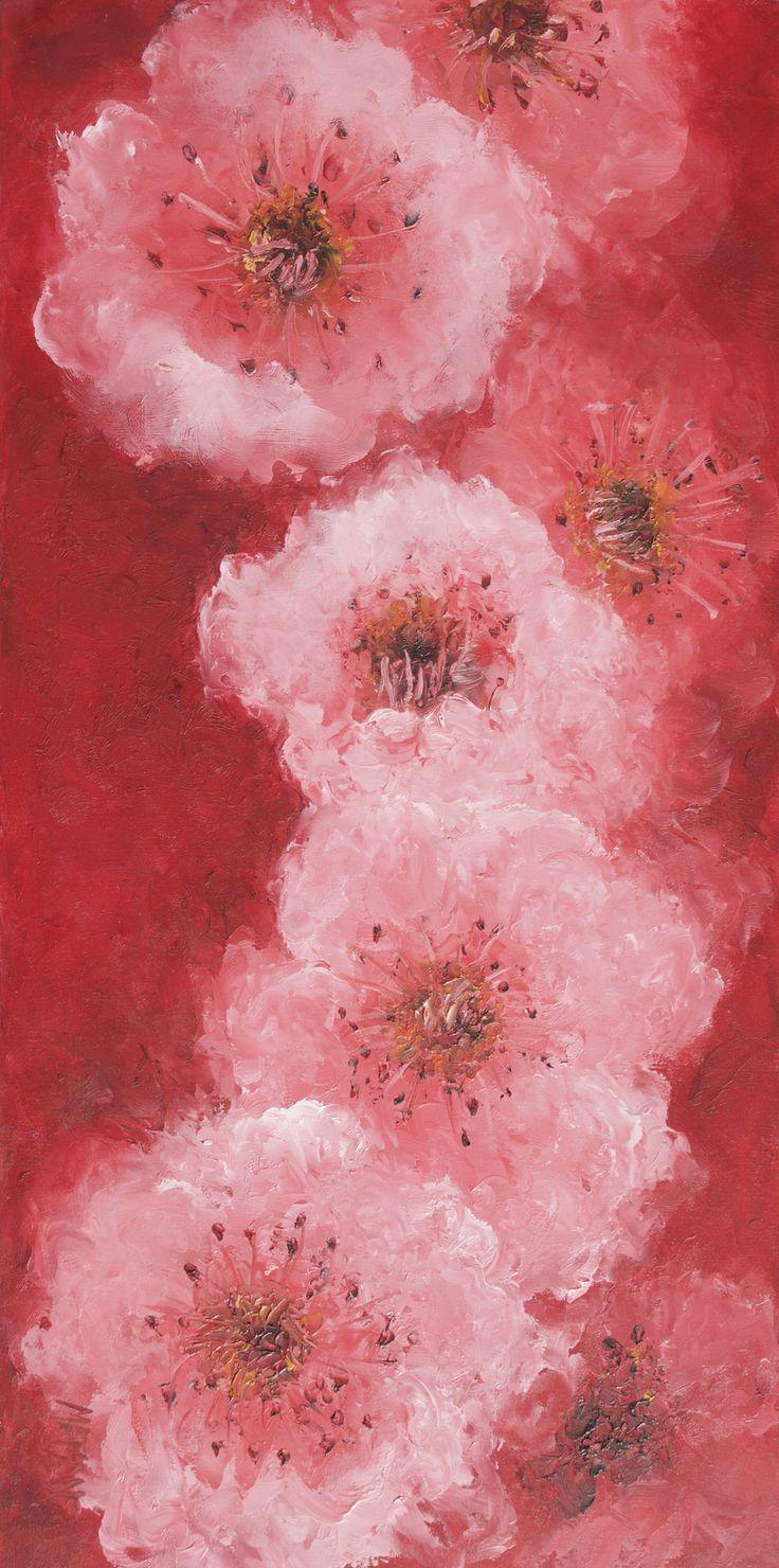 Cherry Blossom  #flowerpaintings #flowerart #paintingsofflowers #floralwallart #livingroomart