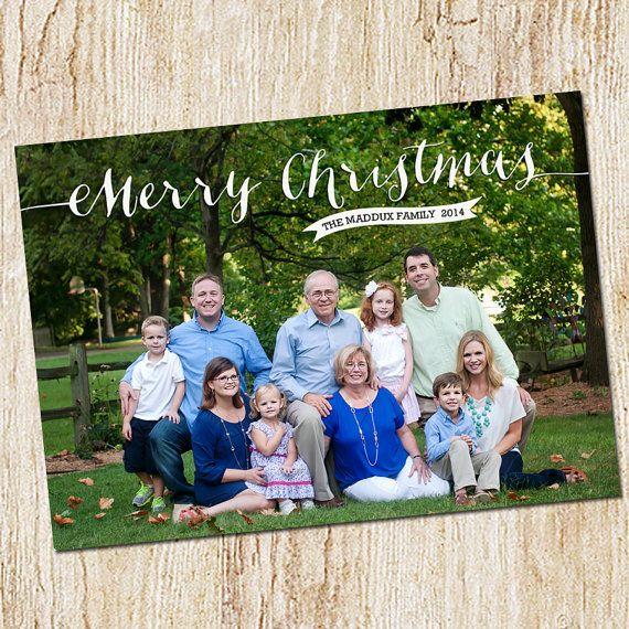 Custom Photo Christmas Card  Digital file or by peachymommy
