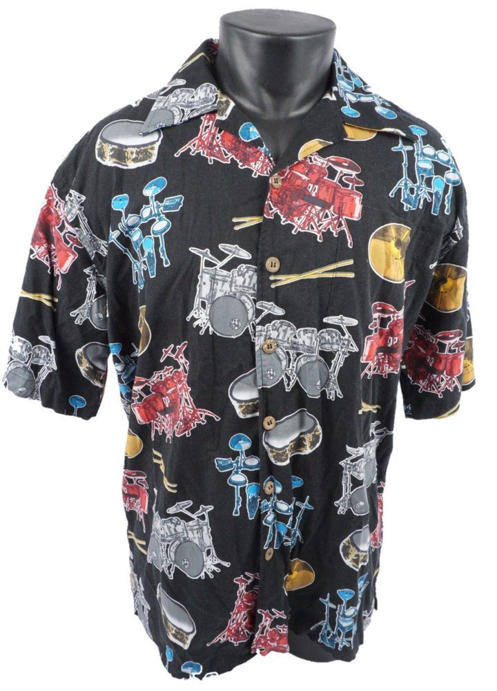 fea42a0bc3 Details about NWT Caribbean Joe Men's Red Floral SS Hawaiian Button ...
