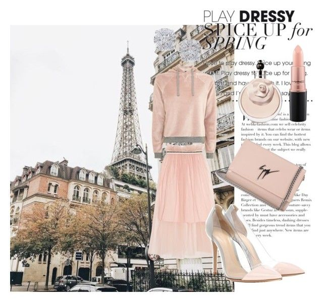Poudré by al-gessica on Polyvore featuring polyvore, fashion, style, Topshop, Mother of Pearl, Gianvito Rossi, Giuseppe Zanotti, Effy Jewelry, MAC Cosmetics and clothing