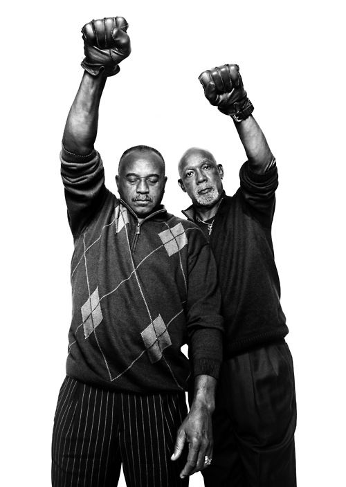 Tommie Smith and John Carlos, 1968 Olympic medal winners  Photograph by Platon, originally published in The New Yorker (2011)