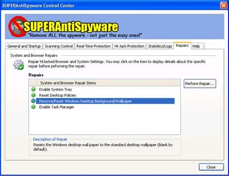 SUPERAntiSpyware Professional features our highly advanced Real-Time Protection to ensure protection from installation or re-installation of potential threats as you surf the Internet. Used in conjunction with our First Chance Prevention and Registry Protection, your computer is protected from thousands of threats that attempt to infect and infiltrate your system at startup or while shutting down your system.